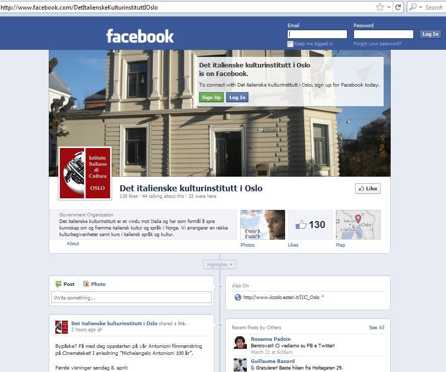 istituto cultura oslo facebook