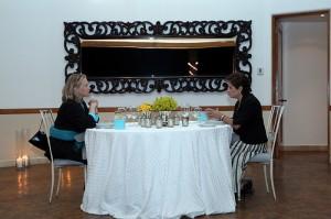 Clinton cena con Espinosa