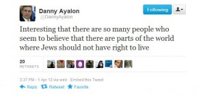 un tweet di Ayalon