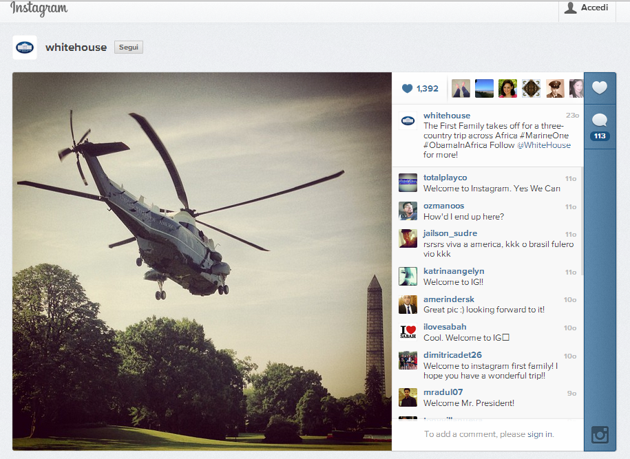 white house instagram