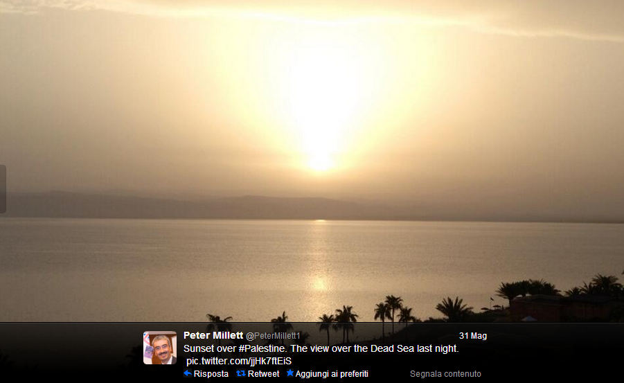 Una foto postata su Twitter dall'ambasciatore Millet